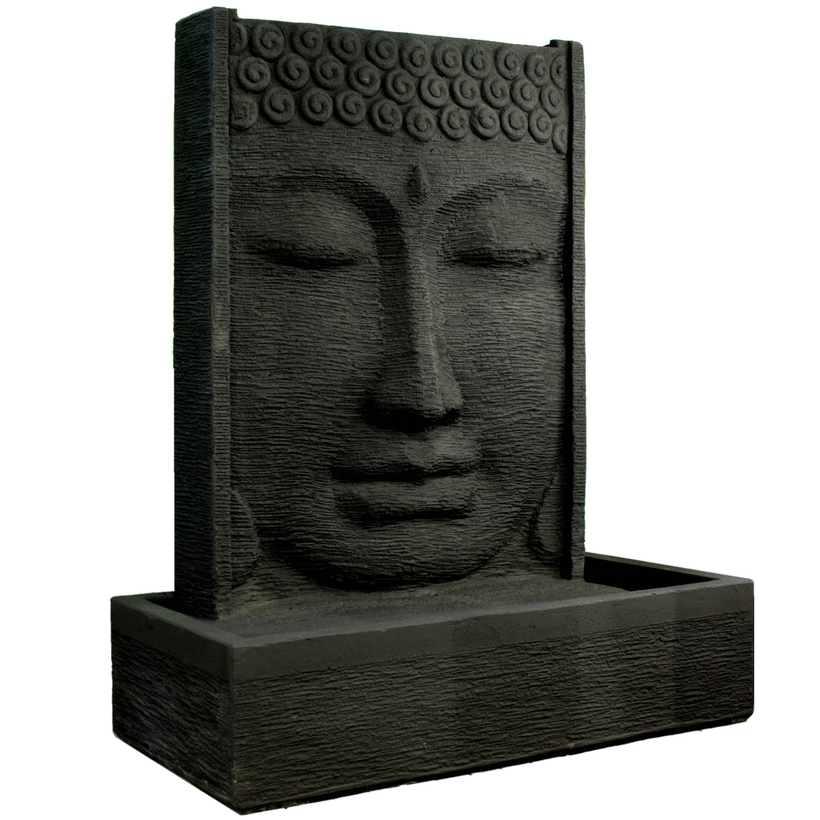 buddha brunnen stein 125cm gartenbrunnen budda wasserspiel zierbrunnen feng shui ebay. Black Bedroom Furniture Sets. Home Design Ideas